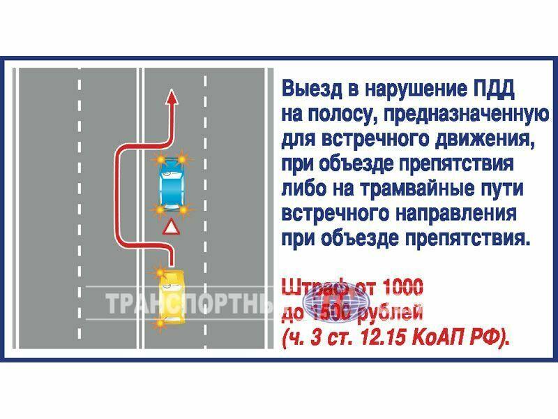 выезд на встречную полосу дорожное покрытие вот ваши